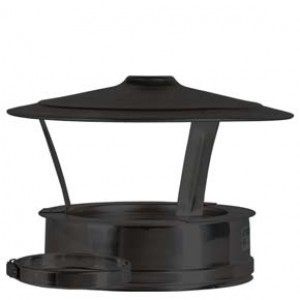 Rain Cap dia 125mm - Black