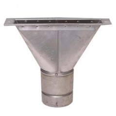 Ridge Tile Adapter (Aluminium) - 125mm