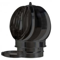 Rotating Cowl dia 125mm - Black