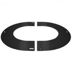 Round Finishing Plate 45° dia 125mm - Black
