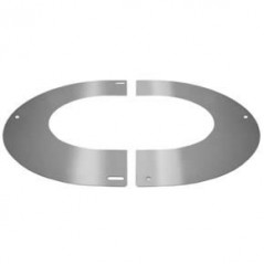 Round Finishing Plate 45° dia 125mm Stainless Steel