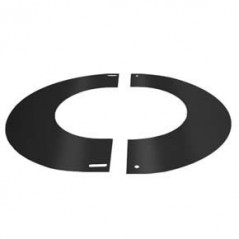 Round Finishing Plate 90° dia 125mm - Black
