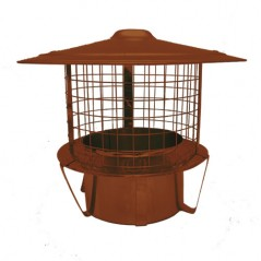Terracotta Pot Hanger c/w Rain Cap and Mesh - 150mm
