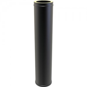 Twin Wall Pipe 1000mm dia 150mm - Black