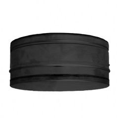 Twin Wall Tee Cap dia 125mm - Black